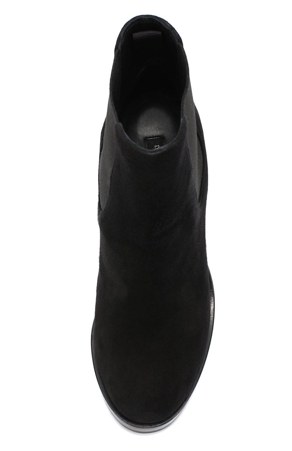 Замшевые ботильоны Lawrence на массивном каблуке Dolce & Gabbana черные | Фото №4