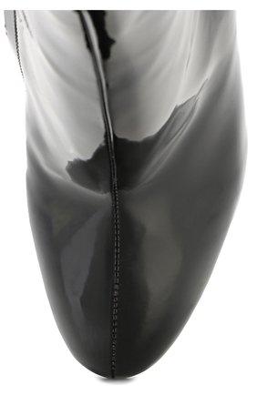 Лаковые ботильоны Vally на каблуке с декором Dolce & Gabbana черные | Фото №4