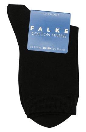 Детские носки из хлопка FALKE черного цвета, арт. 10669 | Фото 1