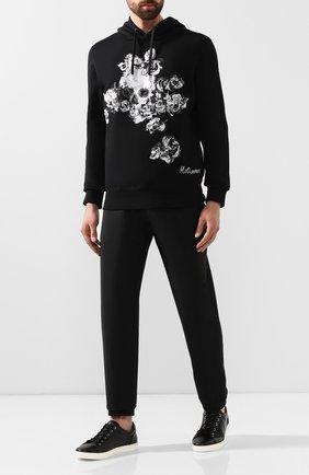 Кожаные кеды London на шнуровке Dolce & Gabbana черные | Фото №2