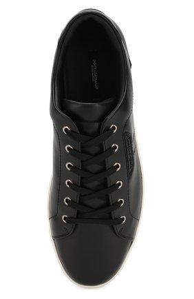 Кожаные кеды London на шнуровке Dolce & Gabbana черные | Фото №5