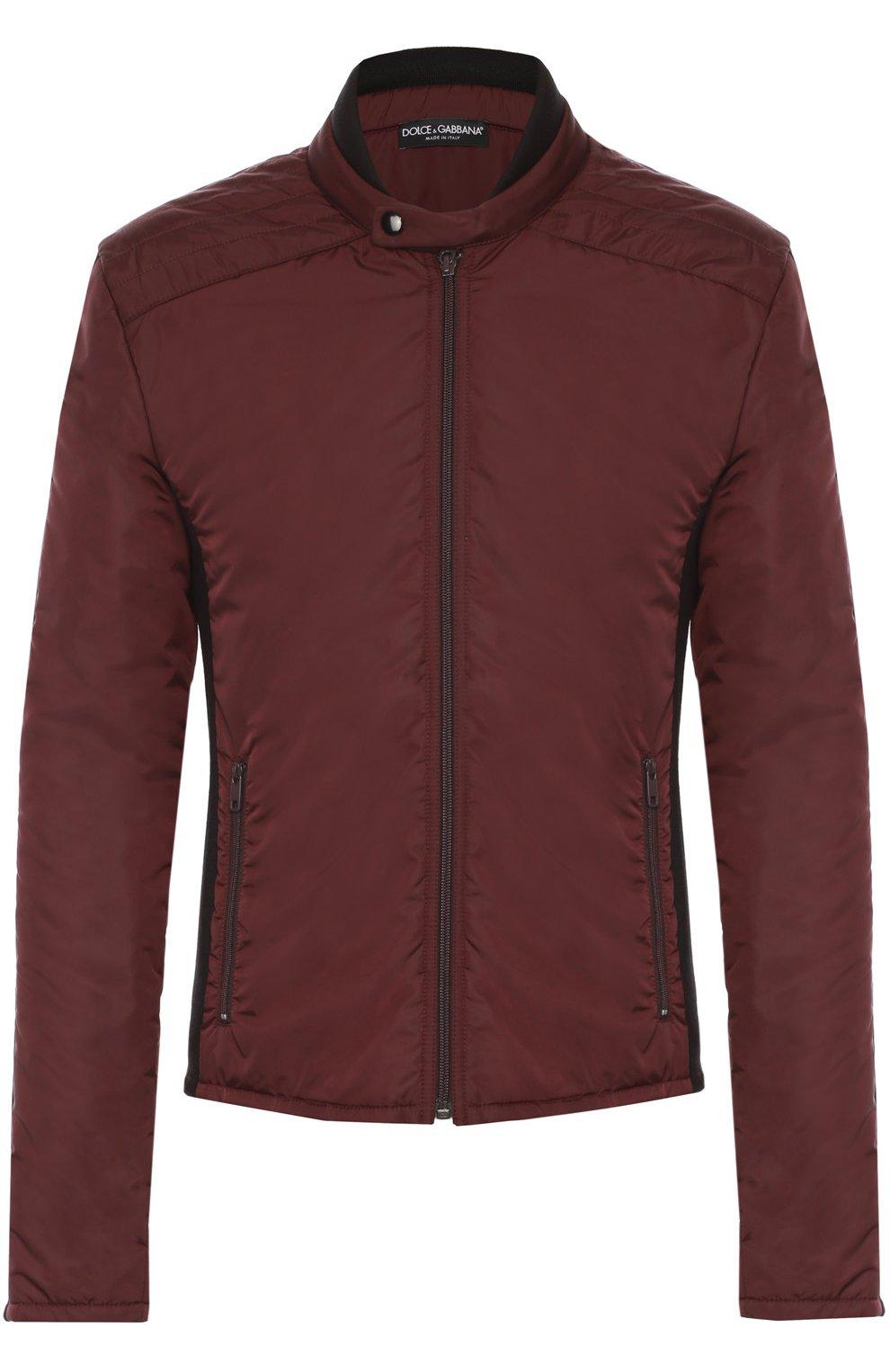 Утепленная куртка на молнии с шерстяными вставками | Фото №1