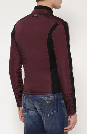 Утепленная куртка на молнии с шерстяными вставками   Фото №4