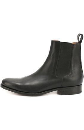 Мужские классические кожаные челси POLO RALPH LAUREN черного цвета, арт. 763/M0211/R0220 | Фото 1