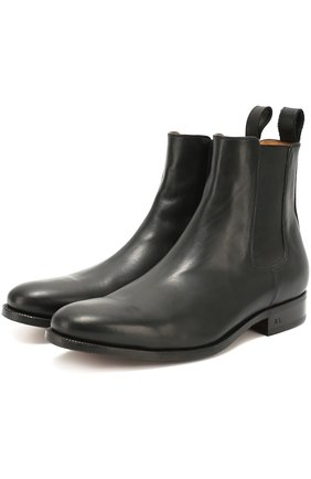 Мужские классические кожаные челси POLO RALPH LAUREN черного цвета, арт. 763/M0211/R0220 | Фото 2