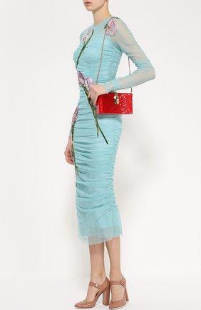 Клатч Dolce Box с кружевом Dolce & Gabbana красного цвета | Фото №2