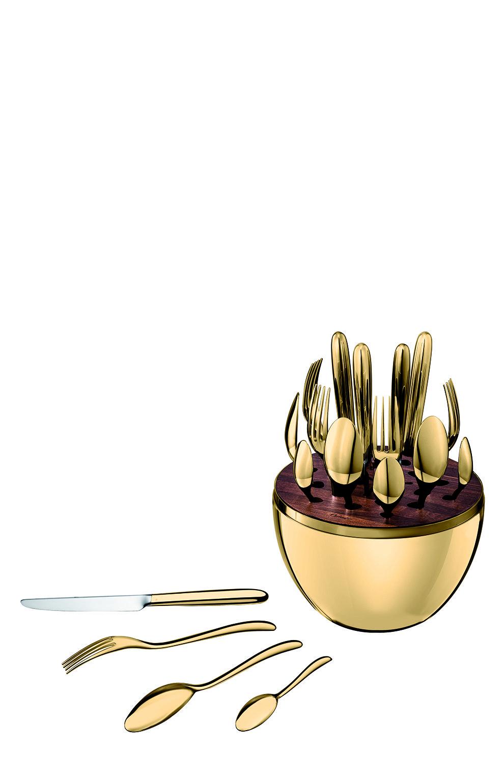 Мужского набор столовых приборов mood gold из 24 предметов CHRISTOFLE золотого цвета, арт. 00865299 | Фото 3
