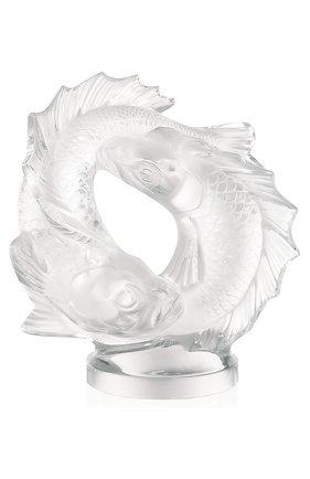 Мужского скульптура double fish LALIQUE прозрачного цвета, арт. 10571800 | Фото 1