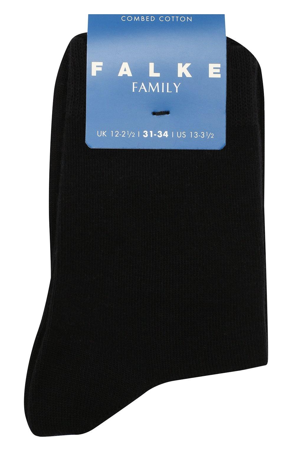Детские носки из хлопка FALKE черного цвета, арт. 10645 | Фото 1