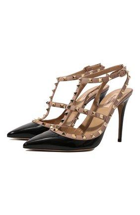 Женская кожаные туфли valentino garavani rockstud VALENTINO черного цвета, арт. ZW2S0393/VNW | Фото 1