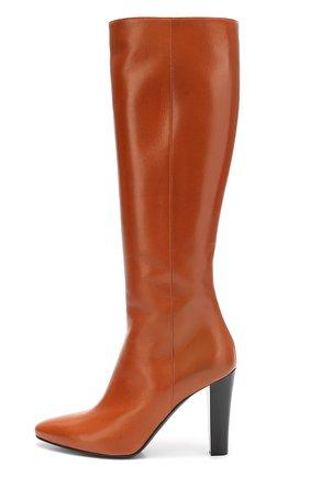 Кожаные сапоги Lily на высоком каблуке | Фото №1