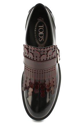 Лаковые ботинки с декором Tod's бордовые   Фото №4
