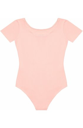 Детская хлопковое боди с коротким рукавом DEHA розового цвета, арт. T07002 | Фото 2