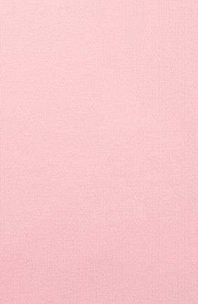Детская хлопковое боди с длинным рукавом DEHA розового цвета, арт. T07006 | Фото 2