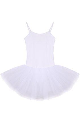 Приталенное платье с пышной многоярусное юбкой | Фото №1