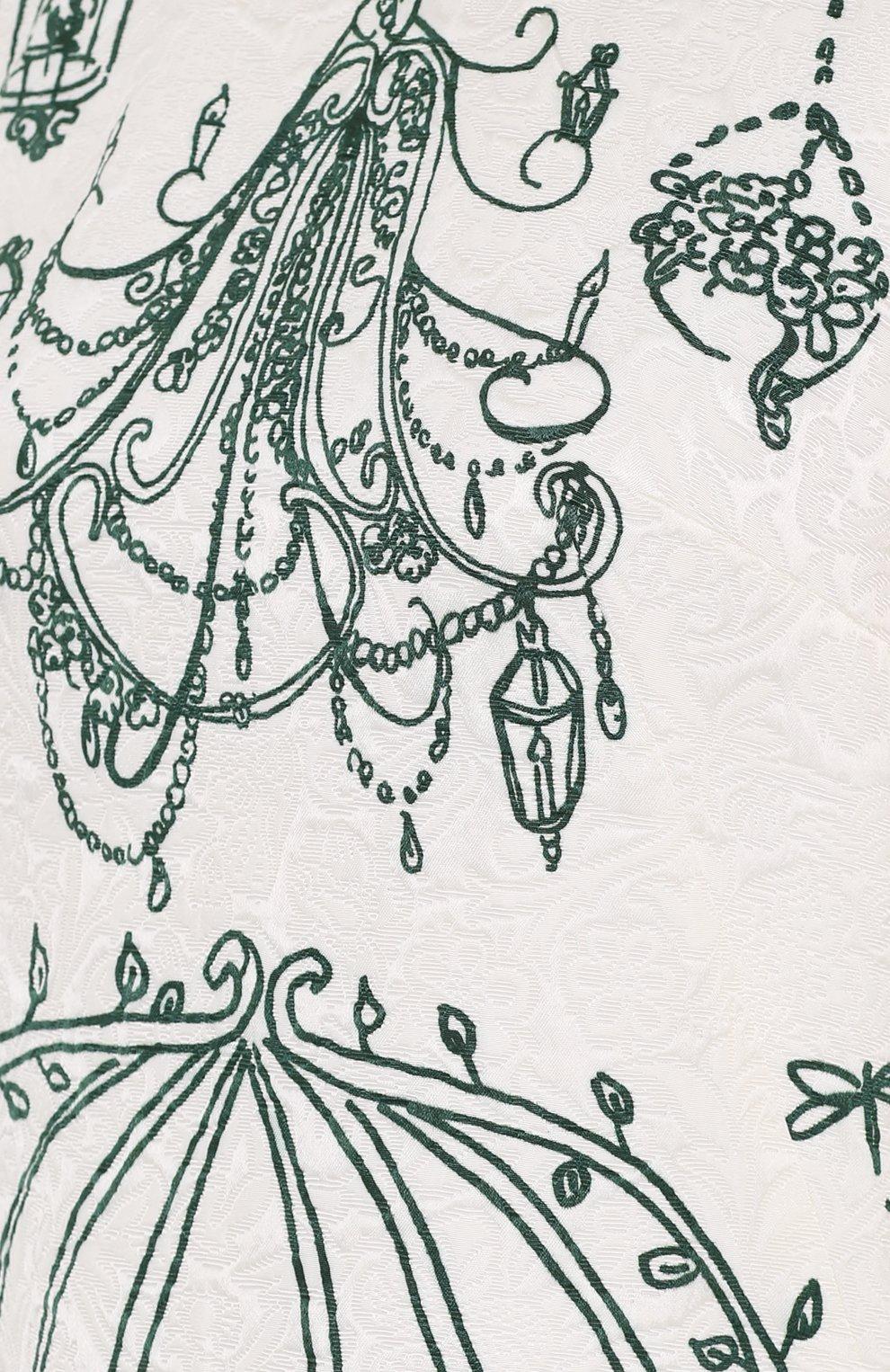 Мини-платье А-силуэта с контрастным принтом | Фото №5