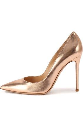 Туфли Gianvito 105 из металлизированной кожи на шпильке | Фото №1
