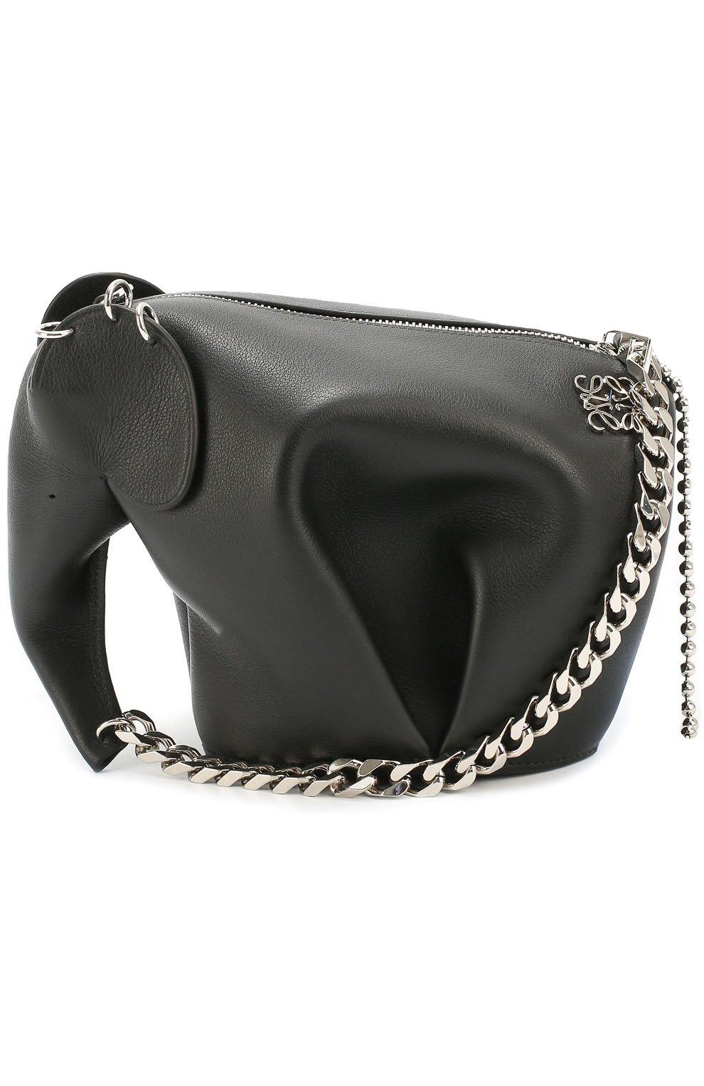 a162078e504b Женская сумка punk elephant mini LOEWE черная цвета — купить за ...