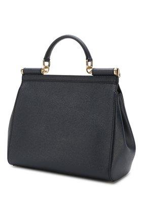 Сумка Sicily medium new Dolce & Gabbana темно-синяя цвета   Фото №3