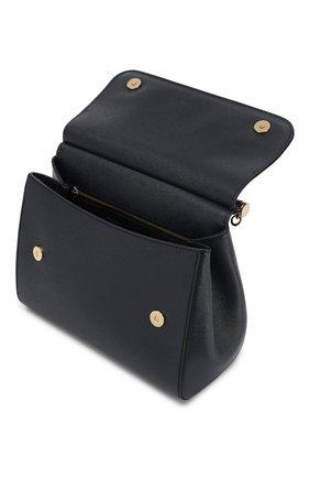 Сумка Sicily medium new Dolce & Gabbana темно-синяя цвета   Фото №4