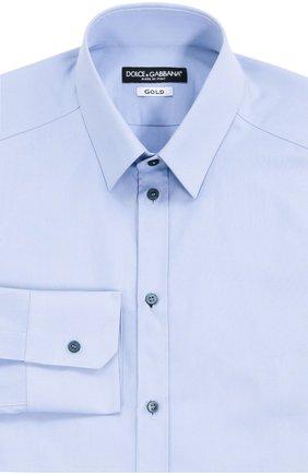 Мужская хлопковая сорочка DOLCE & GABBANA голубого цвета, арт. 0101/G5DM6T/FUEAJ   Фото 1