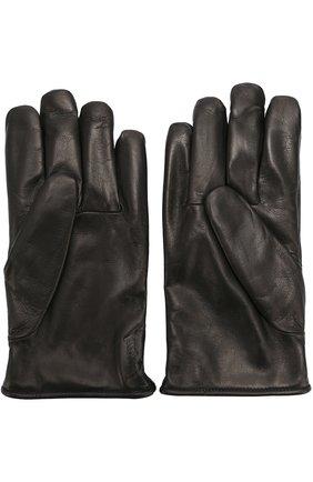 Мужские кожаные перчатки с подкладкой из кашемира BRIONI черного цвета, арт. 05R8/04752 | Фото 2