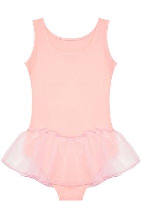 Детская боди из эластичного хлопка с юбкой DEHA розового цвета, арт. T07300   Фото 2