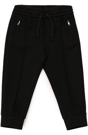 Хлопковые джоггеры с карманами Dolce & Gabbana черного цвета | Фото №1