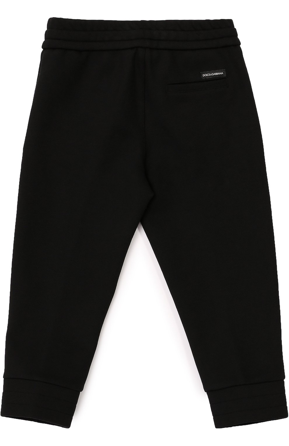Хлопковые джоггеры с карманами Dolce & Gabbana черного цвета | Фото №2