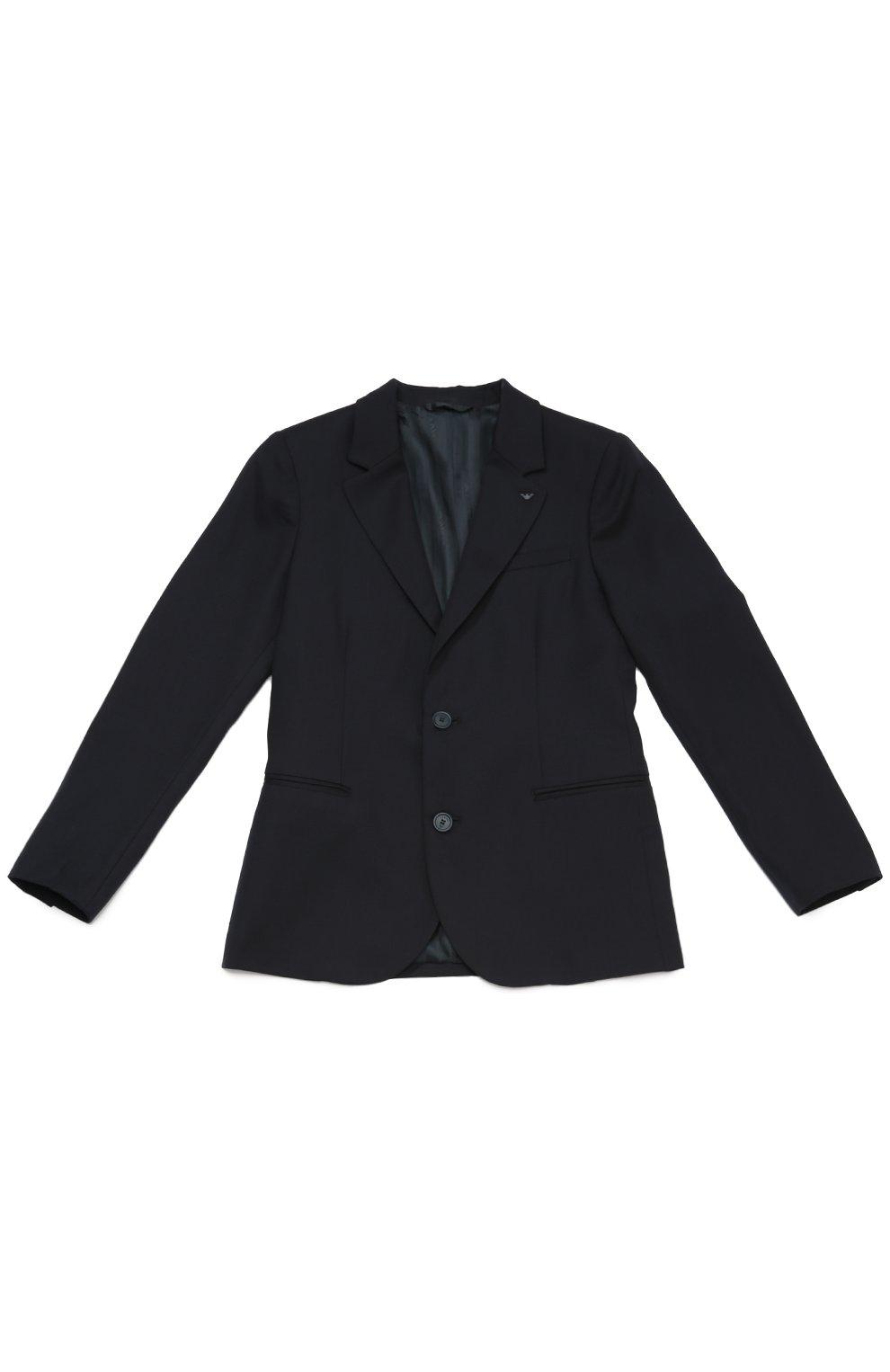 Шерстяной однобортный пиджак   Фото №1