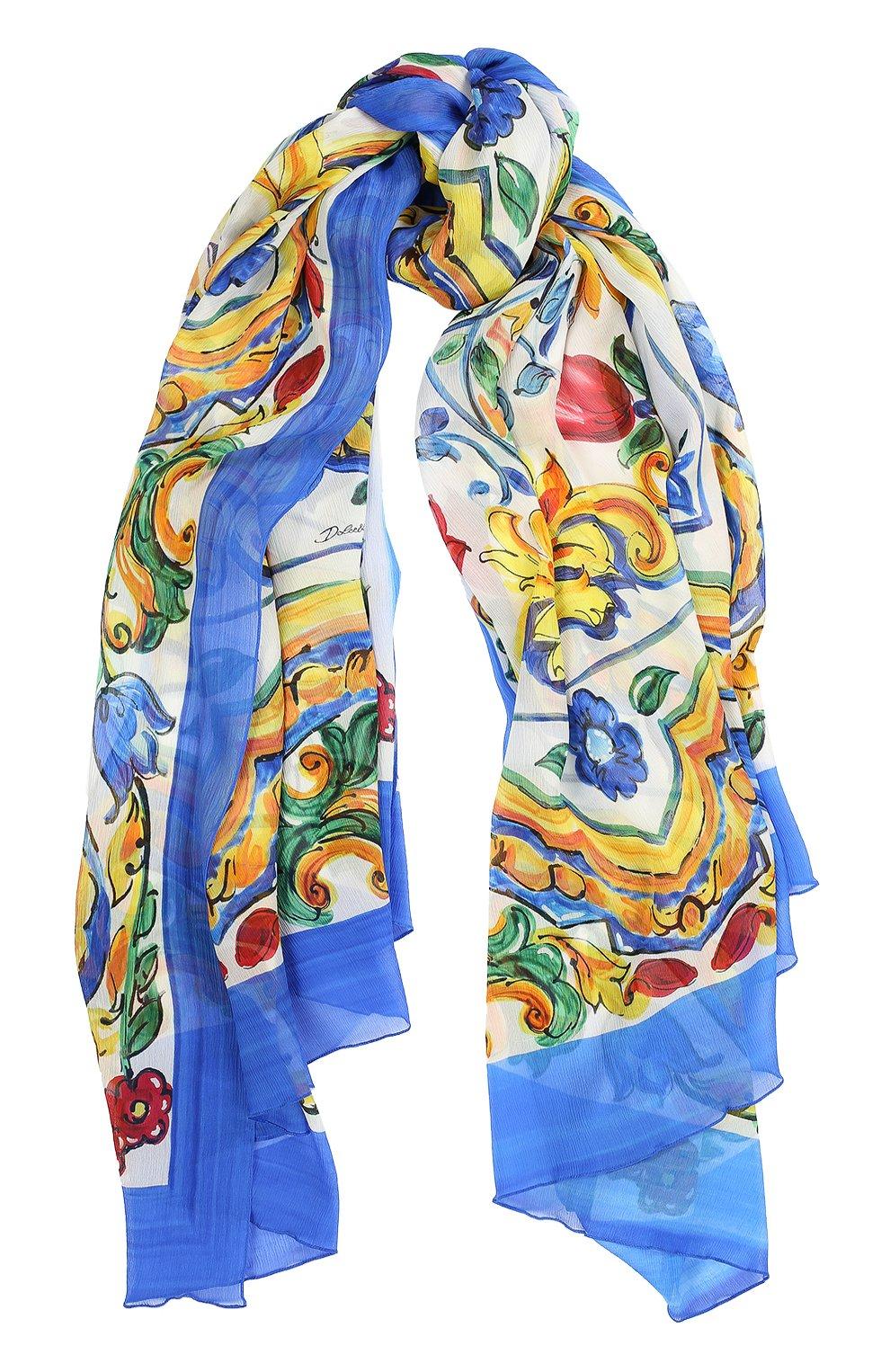 Шелковый шарф с принтом Maiolica   Фото №1