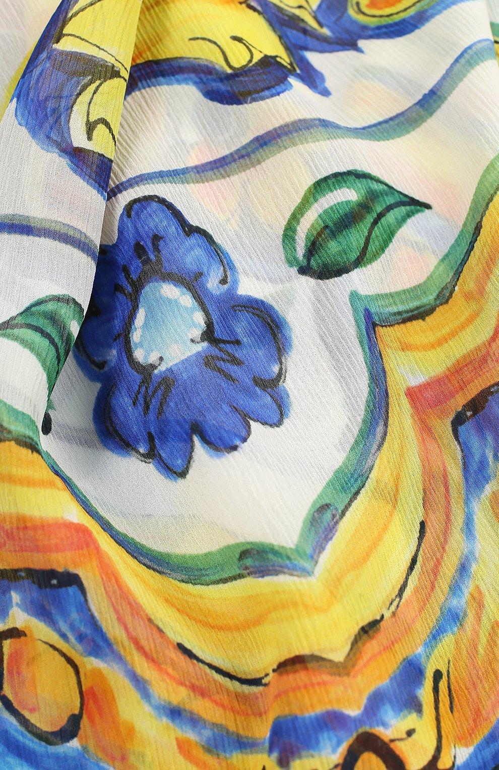Шелковый шарф с принтом Maiolica   Фото №2