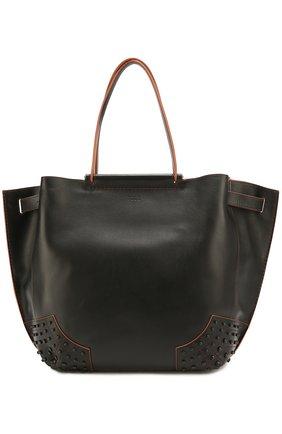 Сумка-шоппер Wave medium Tod's черная цвета | Фото №1