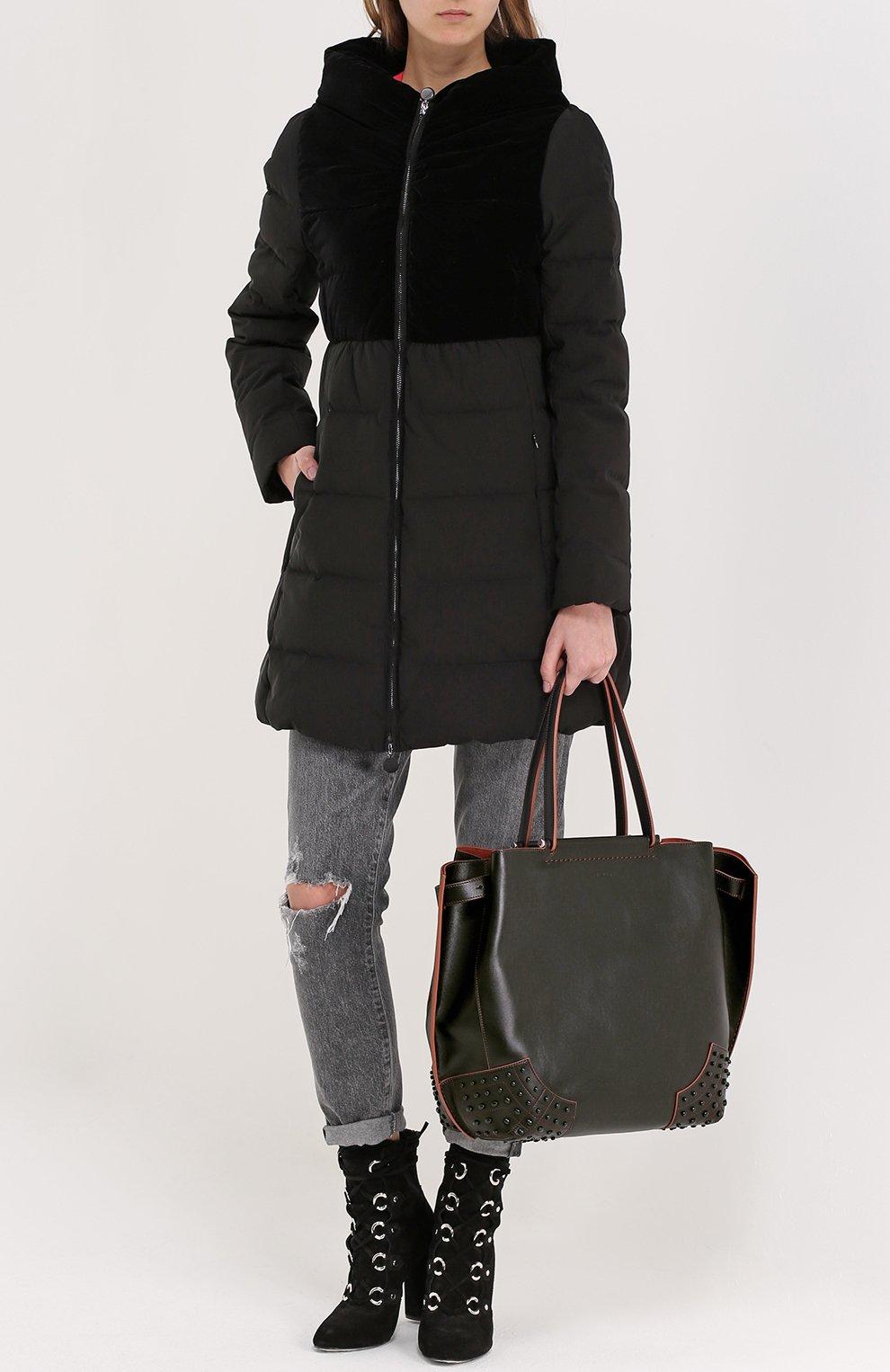 Сумка-шоппер Wave medium Tod's черная цвета | Фото №2