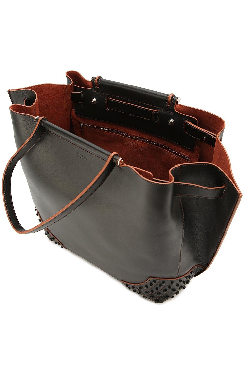 Сумка-шоппер Wave medium Tod's черная цвета | Фото №4