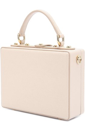 Сумка Dolce Box с аппликацией DG Family Dolce & Gabbana розовая цвета   Фото №3
