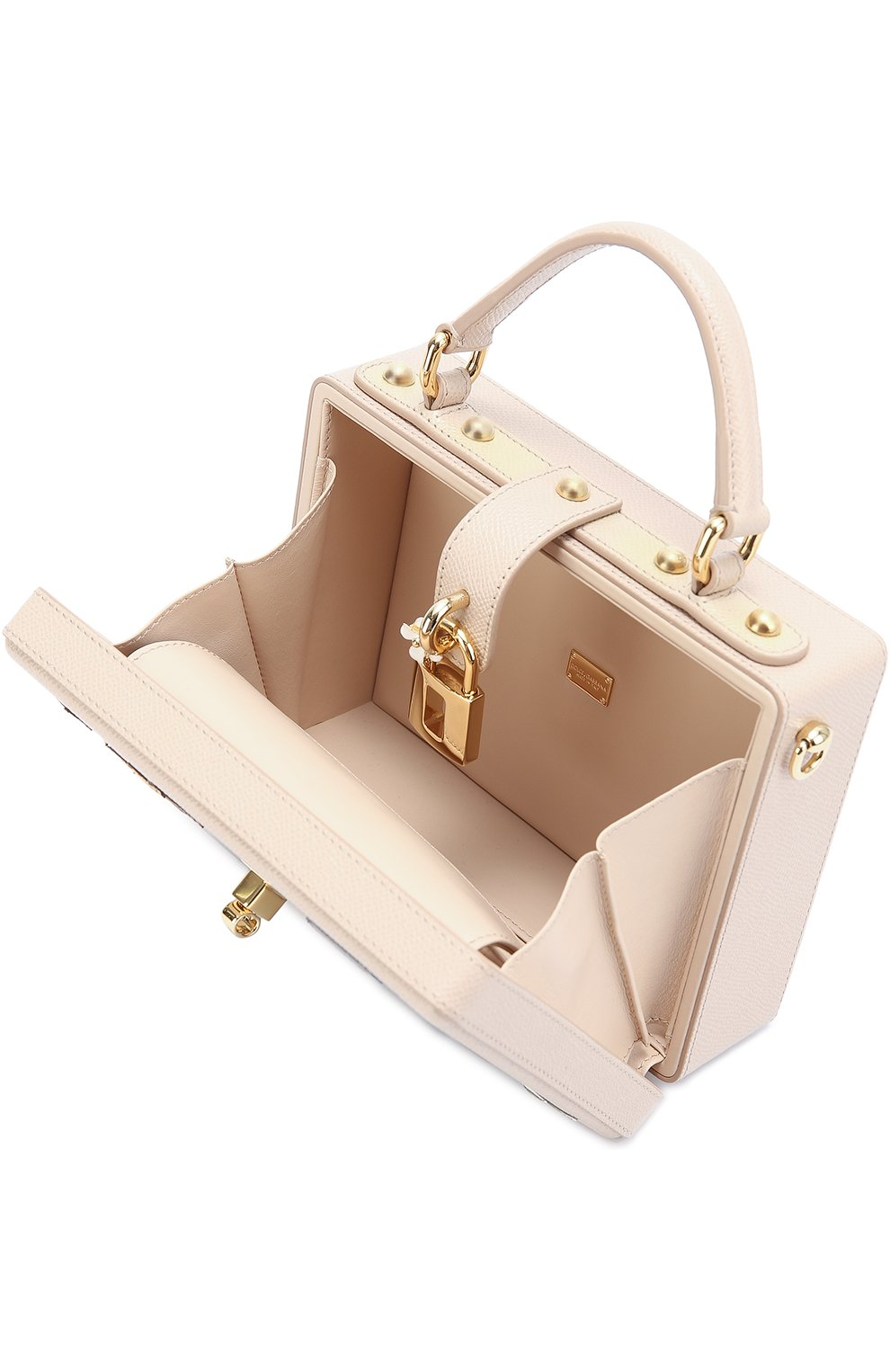 Сумка Dolce Box с аппликацией DG Family Dolce & Gabbana розовая цвета   Фото №4