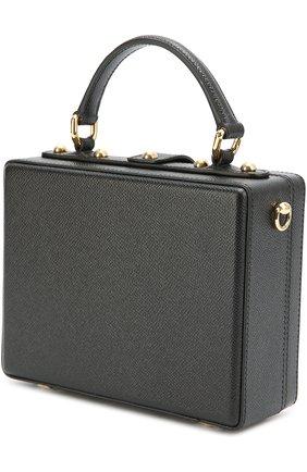 Сумка Dolce Box с аппликацией DG Family Dolce & Gabbana черная цвета | Фото №3