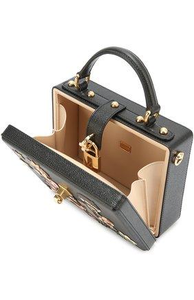Сумка Dolce Box с аппликацией DG Family Dolce & Gabbana черная цвета | Фото №4