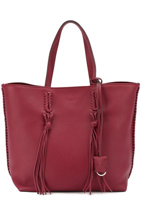 Сумка-шоппер Gipsy medium Tod's бордовая цвета | Фото №1