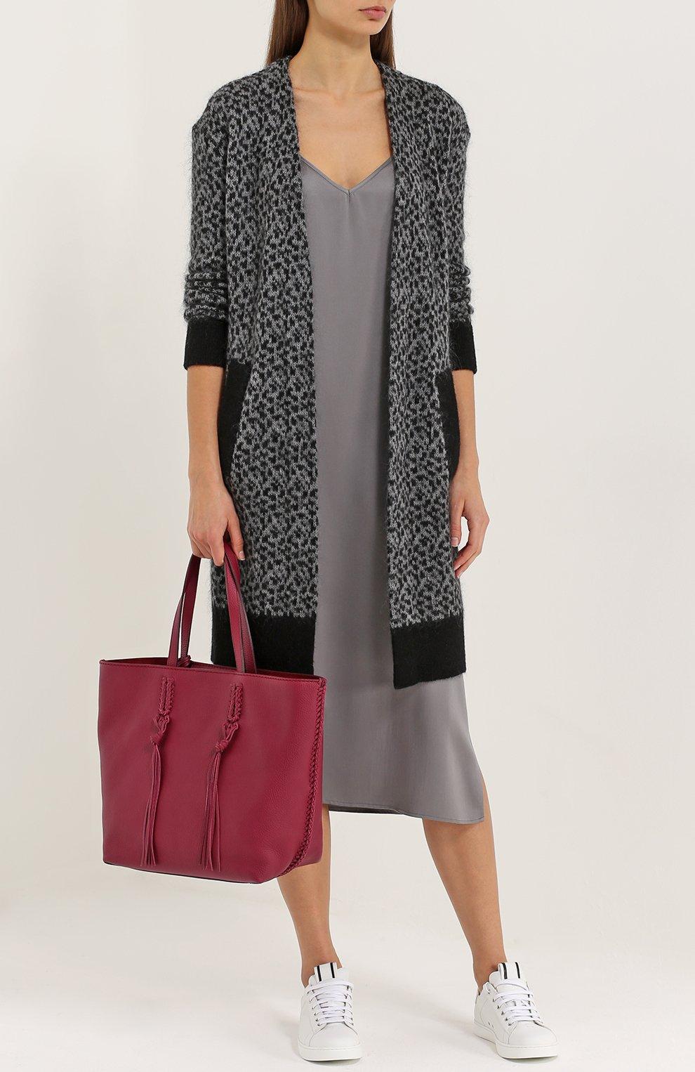 Сумка-шоппер Gipsy medium Tod's бордовая цвета | Фото №2