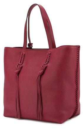 Сумка-шоппер Gipsy medium Tod's бордовая цвета | Фото №3