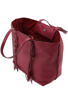 Сумка-шоппер Gipsy medium Tod's бордовая цвета | Фото №4
