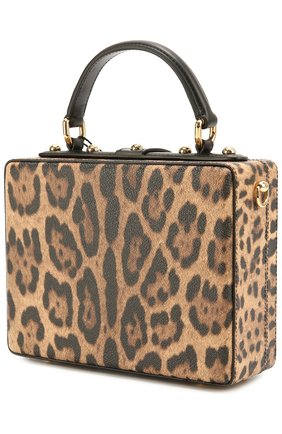 Сумка Dolce Box с аппликацией DG Family Dolce & Gabbana леопардовая цвета   Фото №3