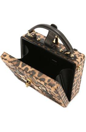 Сумка Dolce Box с аппликацией DG Family Dolce & Gabbana леопардовая цвета   Фото №4