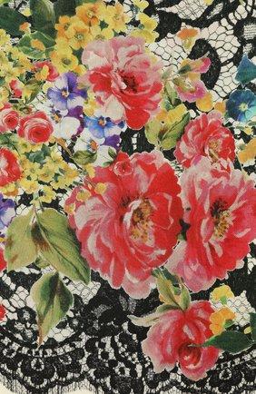 Шелковый платок с принтом Dolce & Gabbana разноцветный   Фото №3