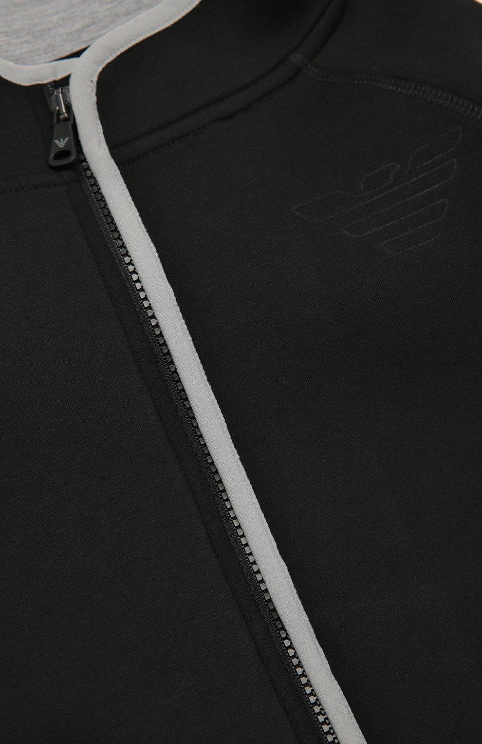 Кардиган из неопрена на молнии с капюшоном | Фото №3