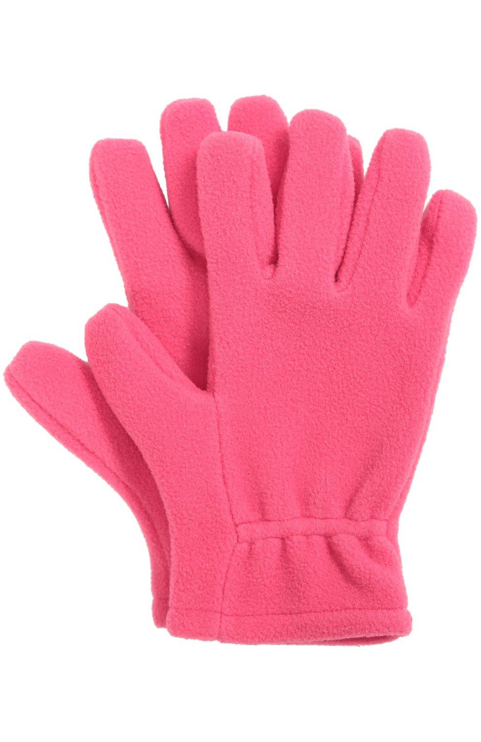 Детские флисовые перчатки с логотипом бренда MONCLER ENFANT фуксия цвета, арт. B2-954-00567-05-80380 | Фото 1