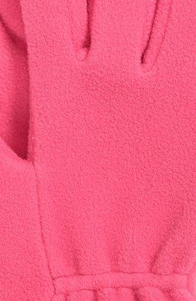 Детские флисовые перчатки с логотипом бренда MONCLER ENFANT фуксия цвета, арт. B2-954-00567-05-80380 | Фото 3