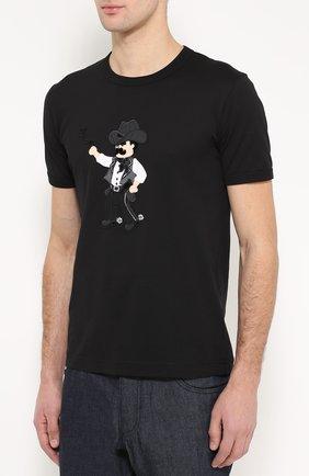 Хлопковая футболка с аппликацией | Фото №3